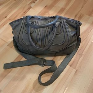 Liebeskind Distressed Large Gray Leather Bag